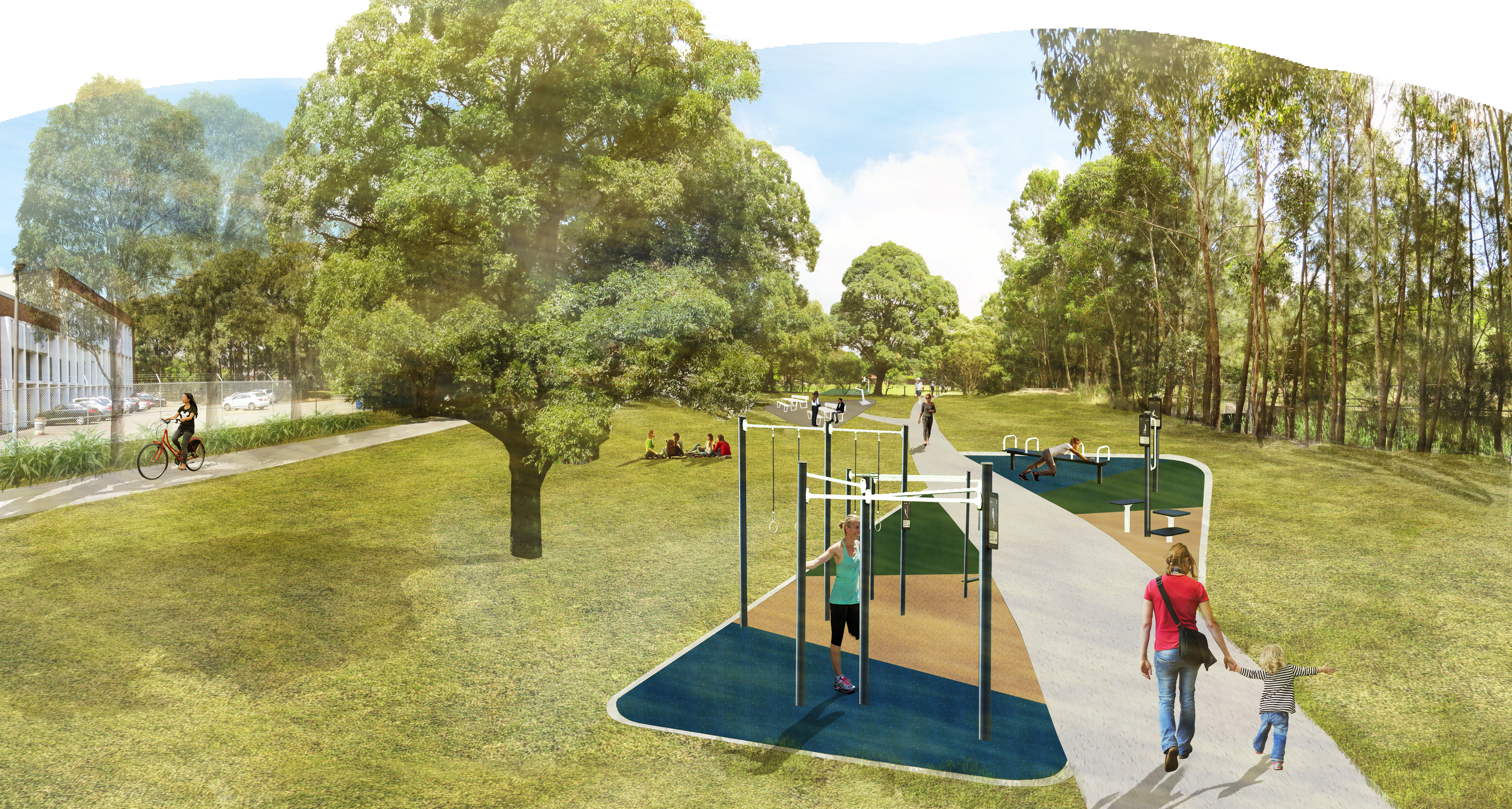 16. Basketball Courts, Seating, Bubblers And Fitness Equipment To Be Delivered At Tallawalla Reserve, Kingsgrove