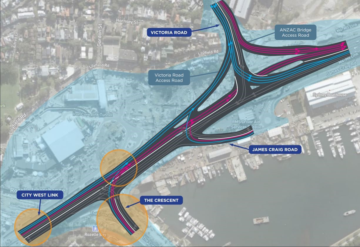 Victoria Road Access Road Major Road Changes Map